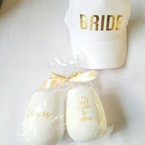 Accessories - Bride set 2 wine glass 1 hat
